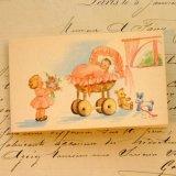 ■蚤の市■アンティークカード 1883 (baby) 未使用