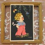 ■ベルギー蚤の市■アンティークカード 1812 (男の子)