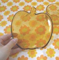 画像2: ★SOGAガラス★あめ色りんごのカップ&ソーサー(日本製:入手困難品)