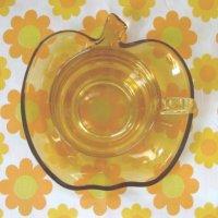 画像3: ★SOGAガラス★あめ色りんごのカップ&ソーサー(日本製:入手困難品)